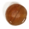 Glass Pressed Beads 8mm Flat Round Dark Brown